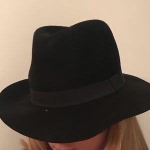 Nordstrom Black Wool Floppy Hat
